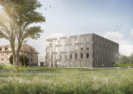 Maison de l'environnement, Lausanne - De bois et de terre