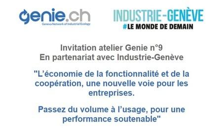 Programme de l'atelier Genie.ch sur l'économie de la fonctionnalité et de la coopération