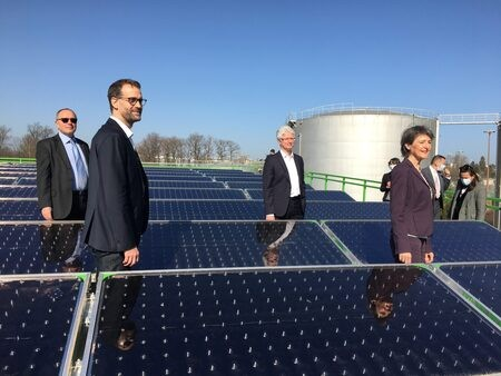 Inauguration de la centrale solaire thermique des SIG