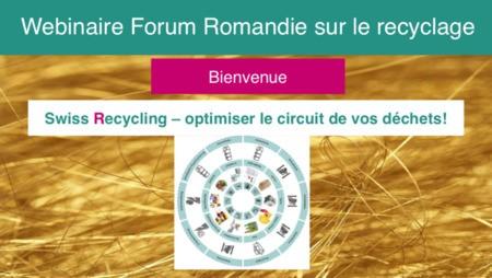 Forum romand sur le recyclage : 18 juin 2021
