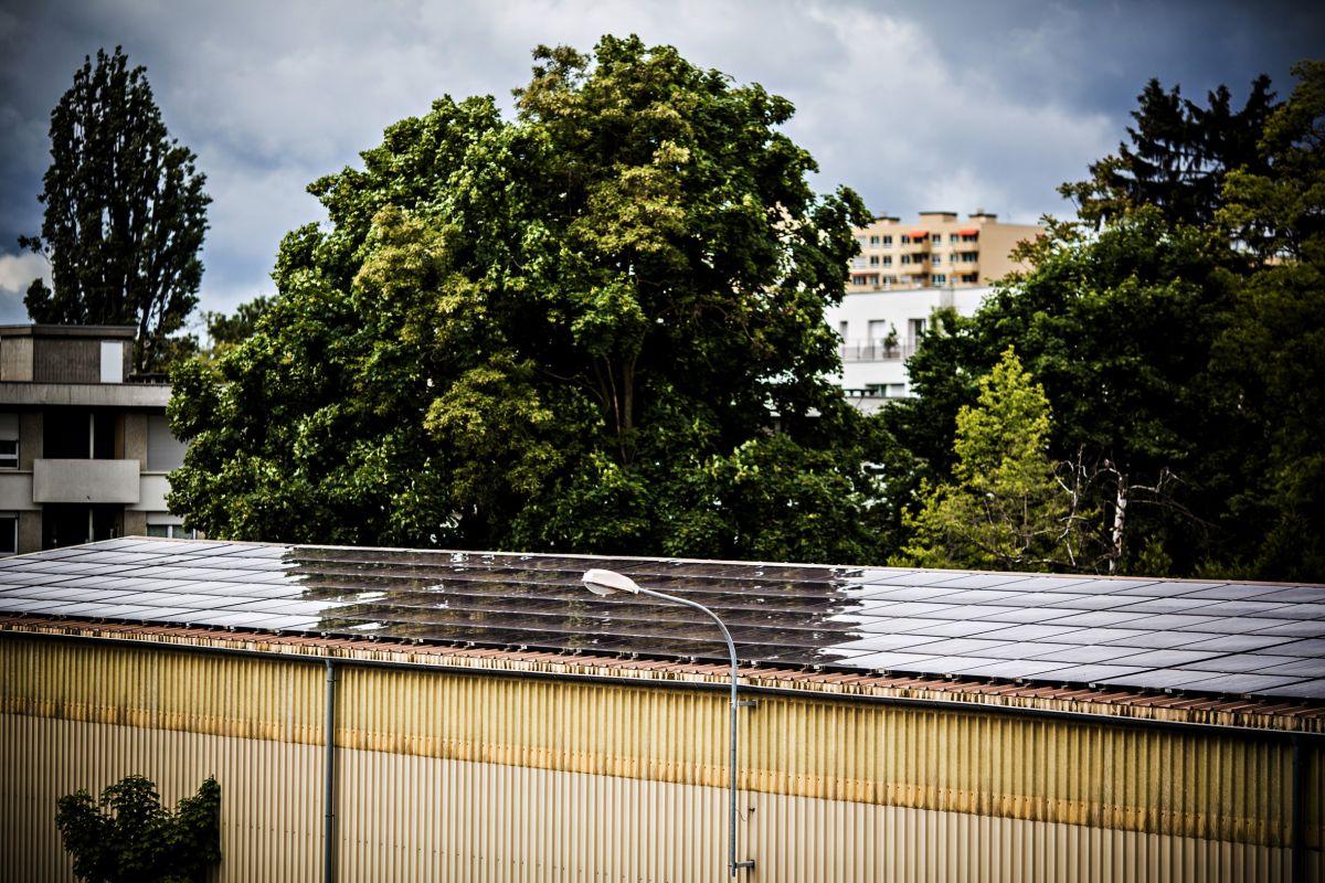 L'installation photovoltaïque sur le site de Thônex