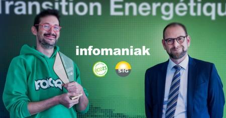Infomaniak remporte le Trophée SIG de la Transition Énergétique