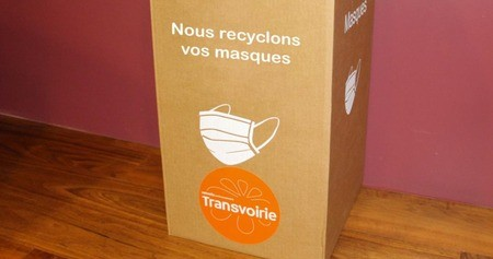 Transvoirie, organise une filière de collecte et de recyclage des masques chirurgicaux