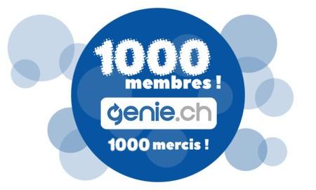Genie.ch : le cap des 1000 membres est franchi !