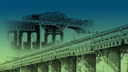 [Vu ailleurs] Création d'un gisement de matériaux suite à la déconstruction du pont Champlain (Montréal)